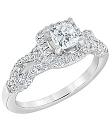 Diamond Engagement Ring (1 1/10 ct. t.w.) in 14k White Gold