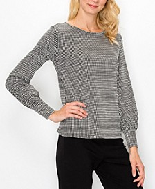 Women's Jacquard Knit Balloon Pullover