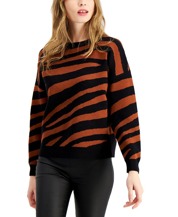 Bar III - Tiger Striped Sweater