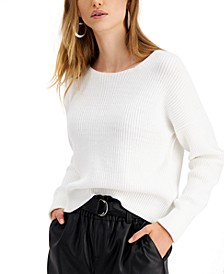 Zip-Back Sweater, Created for Macy's