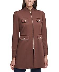 Mandarin-Collar Topper Jacket