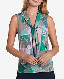 Printed Collared Blouse
