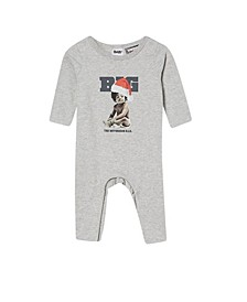 Baby Boy and Baby Girl The Long Sleeve Snap Romper