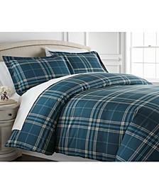 Ultra-Soft Plaid Down Alternative 3 Piece Comforter Set