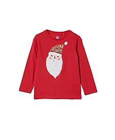 Little Girls Stevie Long Sleeve Embellished T-shirt
