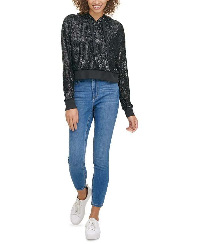 Calvin Klein Jeans - Sequin Pullover Hoodie