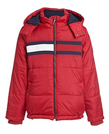 Toddler Boys Flag Puffer Jacket