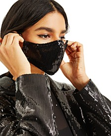 CULPOS X INC Sequin Face Mask, Created for Macy's
