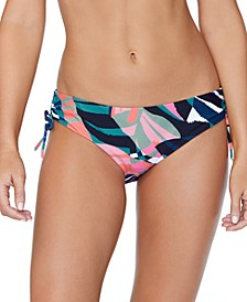 Juniors' Crystal Cove Printed Drawstring Bikini Bottoms