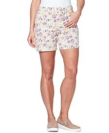 Petite Amanda Floral-Print Shorts