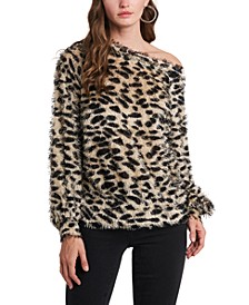 One-Shoulder Leopard-Print Top