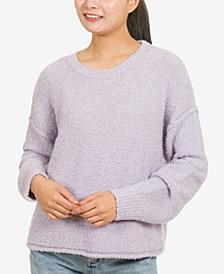 Juniors' Boxy Boucle Sweater