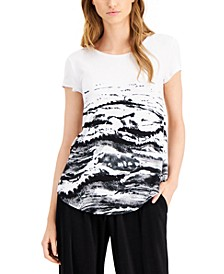Petite Printed T-Shirt, Created for Macy's