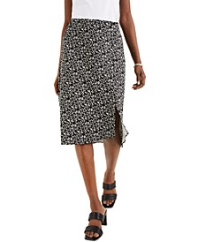 Abstract-Print Midi Skirt, Created for Macy's