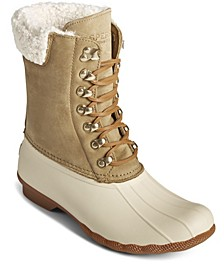 Saltwater Women's Tall Leather Cozy Duck Boots