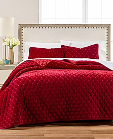 Diamond Tufted Velvet Quilt and Sham Collection