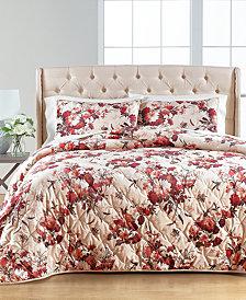 Gilded Floral Velvet Full/Queen Quilt, Created for Macy's