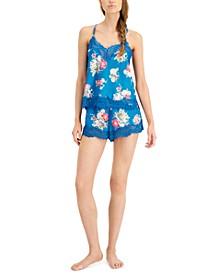 INC Lace-Trim Cami & Shorts Sleep Set, Created for Macy's