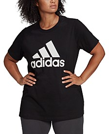 Plus Size Women's Badge of Sport Logo T-Shirt