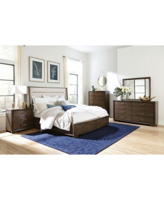Monterey Upholstered Storage Bedroom 3-Pc. Set (Queen Bed, Chest & Nightstand), Created for Macy's