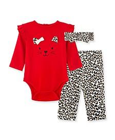 Baby Girls Leopard Bodysuit Pant Set