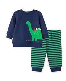 Baby Boys Dino Sweatshirt Set
