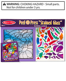 Melissa and Doug Kids Toy, Rainbow Garden See-Through Window Art