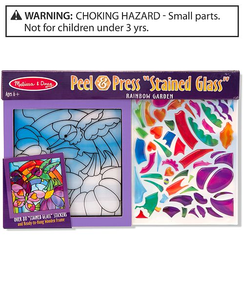 Melissa and Doug Kids Toy, Rainbow Garden See-Through Window Art
