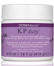 KP Duty Dermatologist Formulated Body Scrub For Dry, Rough, Bumpy Skin, 16-oz.