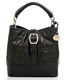 Leather Mini Amelia Black Bergen Bucket Bag