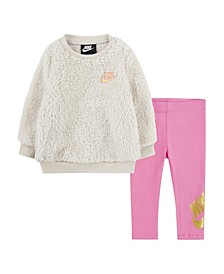 Toddler Girls Sherpa 2 Piece Legging Set