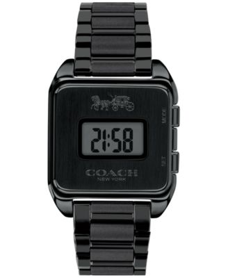 코치 여성 손목 시계 COACH Womens Digital Darcy Black Stainless Steel Bracelet Watch 30mm