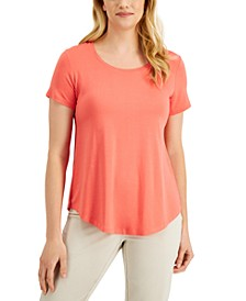 JM Collection Round-Hem T-Shirt, Created for Macy's