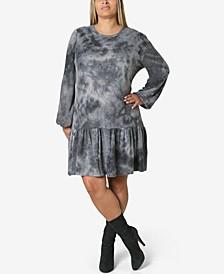 Trendy Plus Size Tie-Dyed Dress