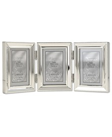 "Metal Triple Picture Frame with Inner Beading, 2.5"" x 3.5"""