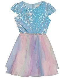 Little  Girl Glitter Cascade Dress