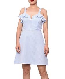 Juniors' Sweetheart A-Line Dress