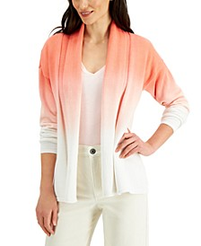 Cotton Dip-Dyed Cardigan, Created for Macy's