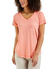 Burnout V-Neck T-Shirt, Created for Macy's