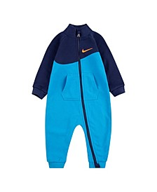 Baby Boys Blocked Swoosh Coverall