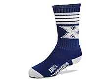 Youth Utah Utes 4 Stripe Deuce Crew Socks