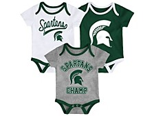 Michigan State Spartans Newborn Champ Set