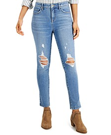 Petite Ripped Skinny Ankle Jeans, Created for Macy's