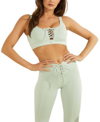Lace-Up Active Sports Bra