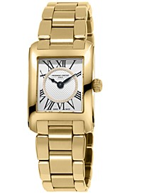 Women's Swiss Classic Carree Diamond (1/20 ct. t.w.) Gold-Tone Stainless Steel Bracelet Watch 23mm
