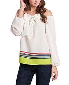 Maybelle Striped Bow Blouse, Created for Macy's