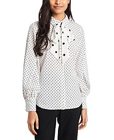 Camille Bow Neck Blouse, Created for Macy's