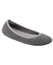 Isotoner Women's Jillian Jersey Knit Ballerina Slippers
