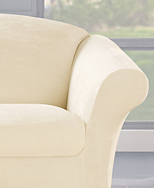 Sure Fit Stretch Plush 2-Piece Loveseat Slipcover