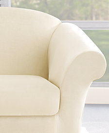 Sure Fit Stretch Plush 2-Piece Slipcover Collection